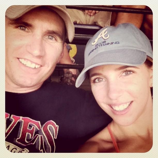 Casey & Shana at Braves Game