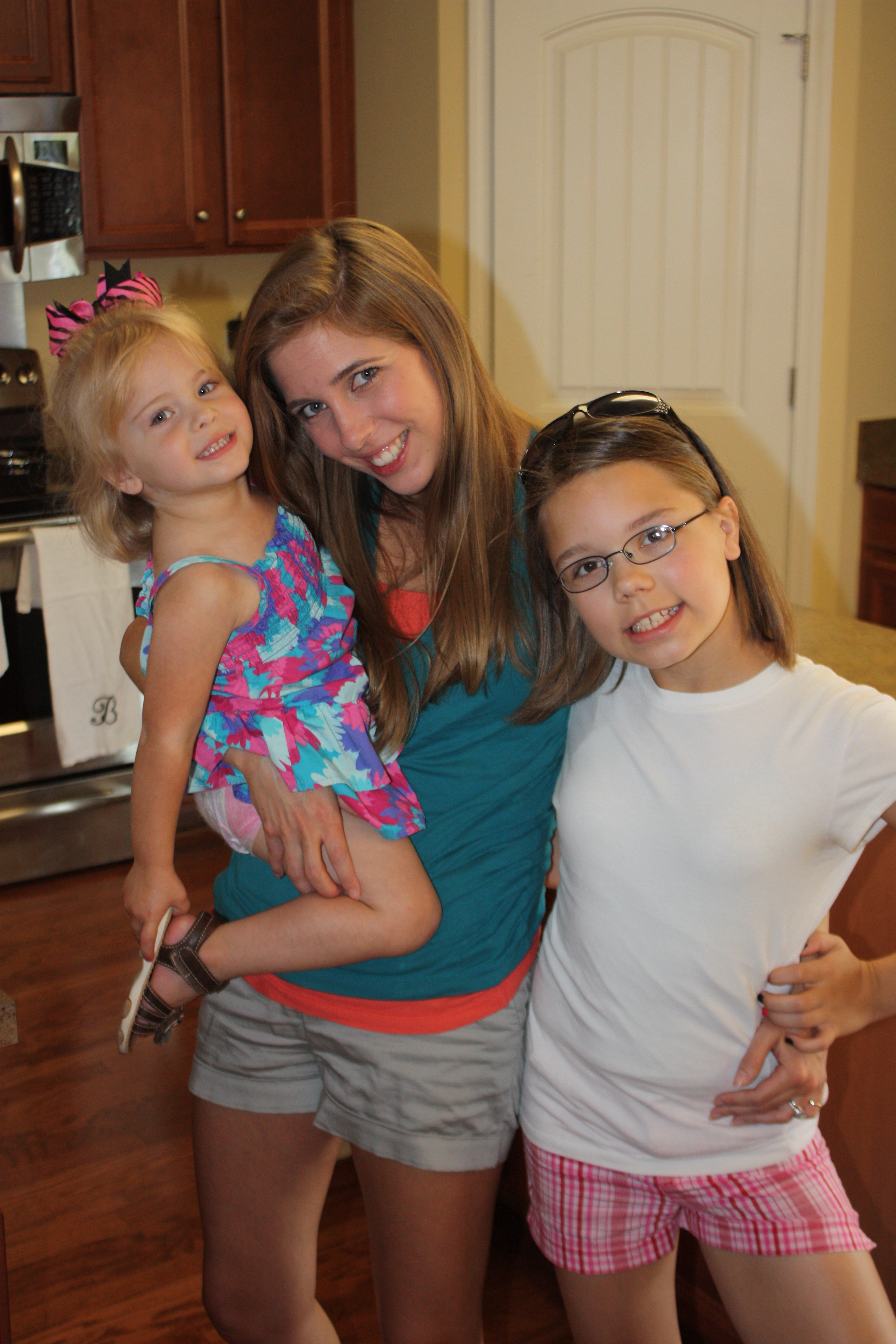 Photo of me with my nieces