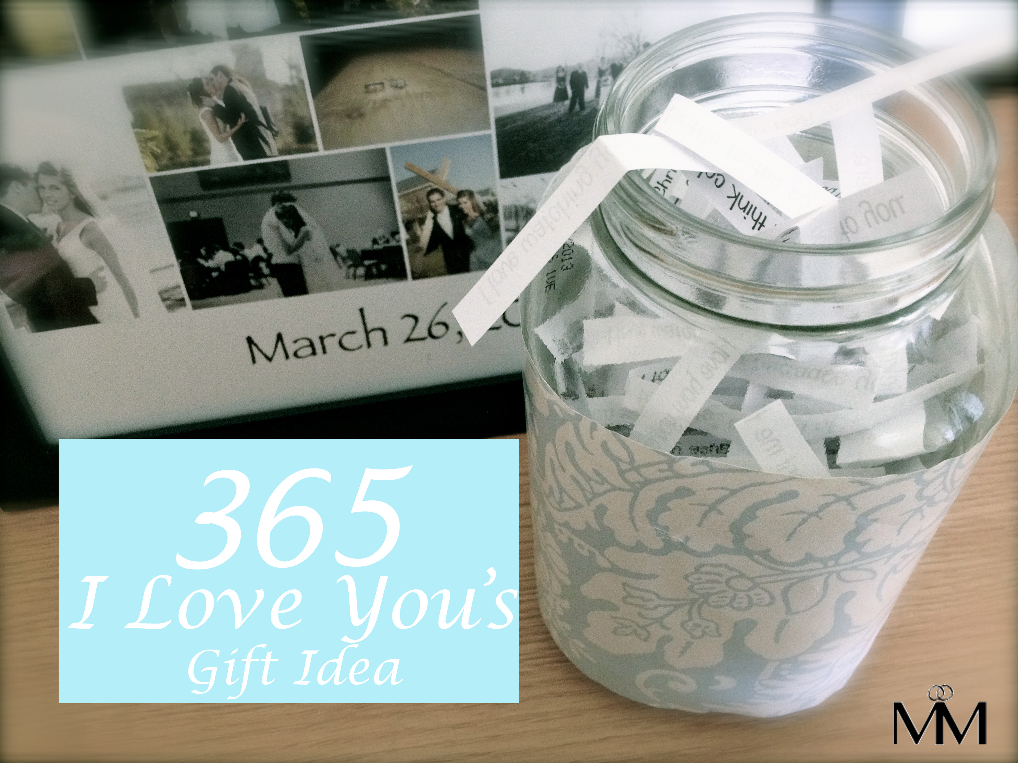 diy 2 year anniversary gift idea - the 365 reasons why i love you
