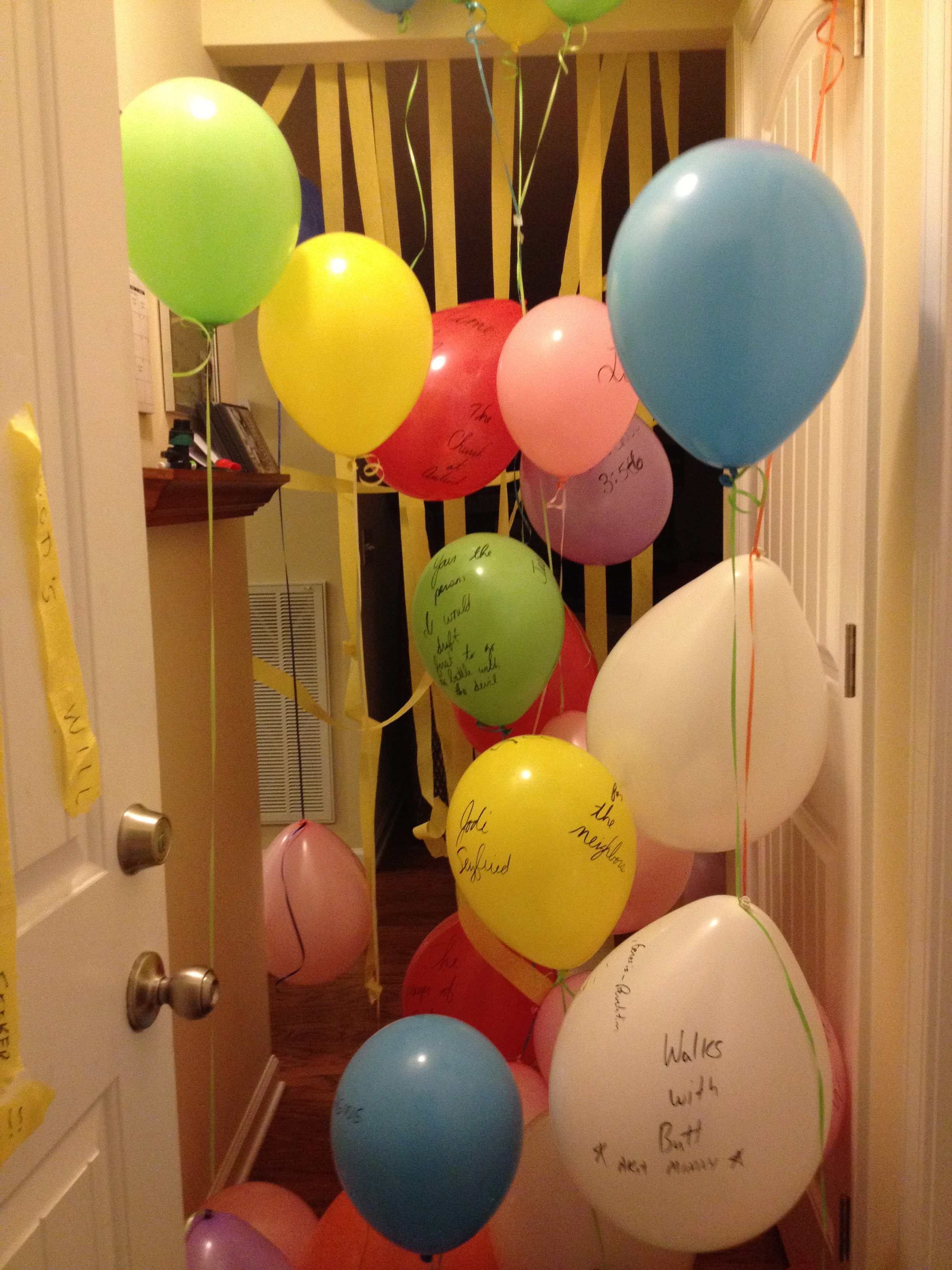 Balloons in Doorway